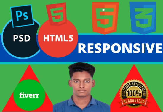 do PSD to HTML Convert Template in your Web page
