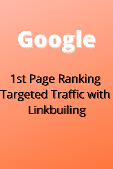 Offering you guaranteed google 1st page ranking with link building service