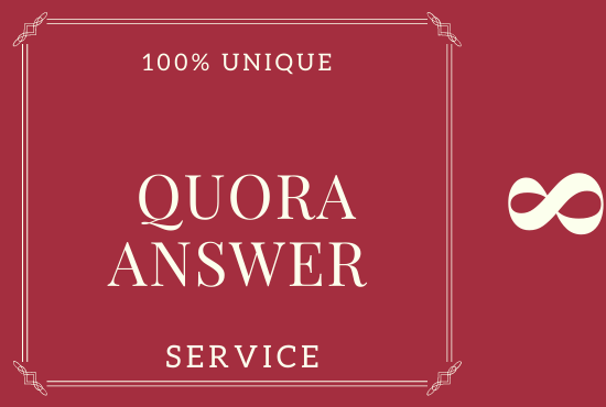 I Will Do 8 High-Level Quora Answer