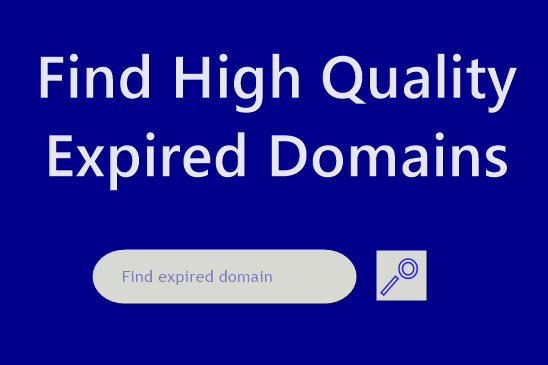 I can provide you the best 'Expired Domain' name research on your niche.