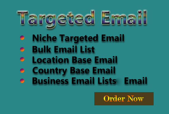 I will collect niche based targeted email list