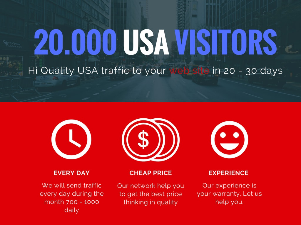 I will send 20k organic real organic targeted USA web traffic