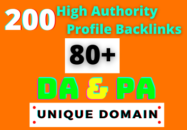 I Will Create 200 HQ Dofollow DA/PA 80+ Social Profile Backlinks Manually