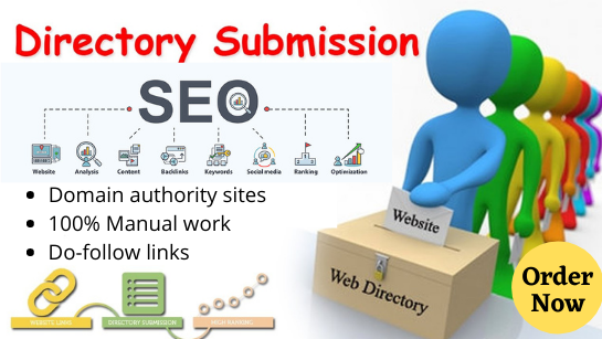 I will create 50 HQ directory submission white hat SEO backlinks