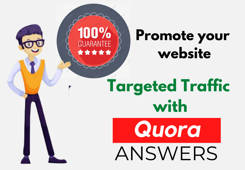 Bring targeted traffic with 50 HQ Quora answers