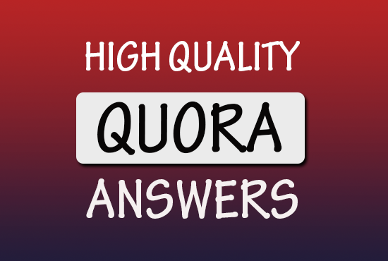 30 HQ exceptional Quora answers with Gurranted Targeted Traffic