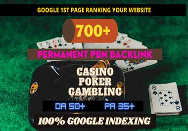 Unique 700+ Manual Powerful Backlinks for UFA/CASINO/GAMBLING/POKER/Betting Sites