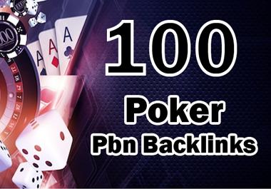 100 permanent DA 58-30+ PBN Backlinks Casino,  Gambling,  Poker,  Judi Related Websites