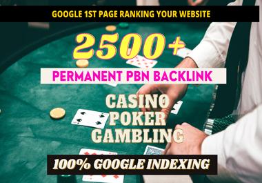 2500+ PBN Blog Post Casino/Gambling/Poker/judi Bola Niche Related High Quality Permanent Post