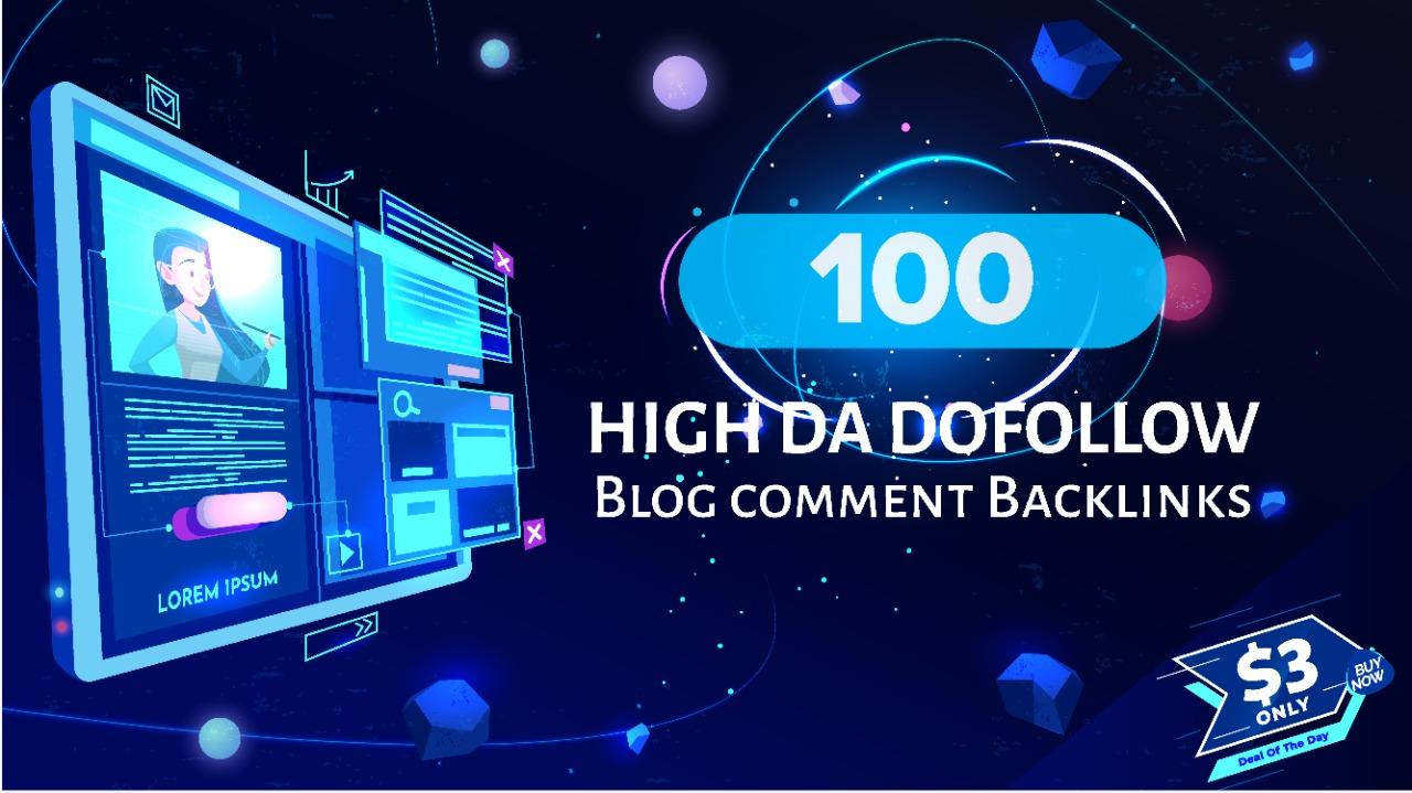 i will create 100 dofollow Domain Authority Backlinks