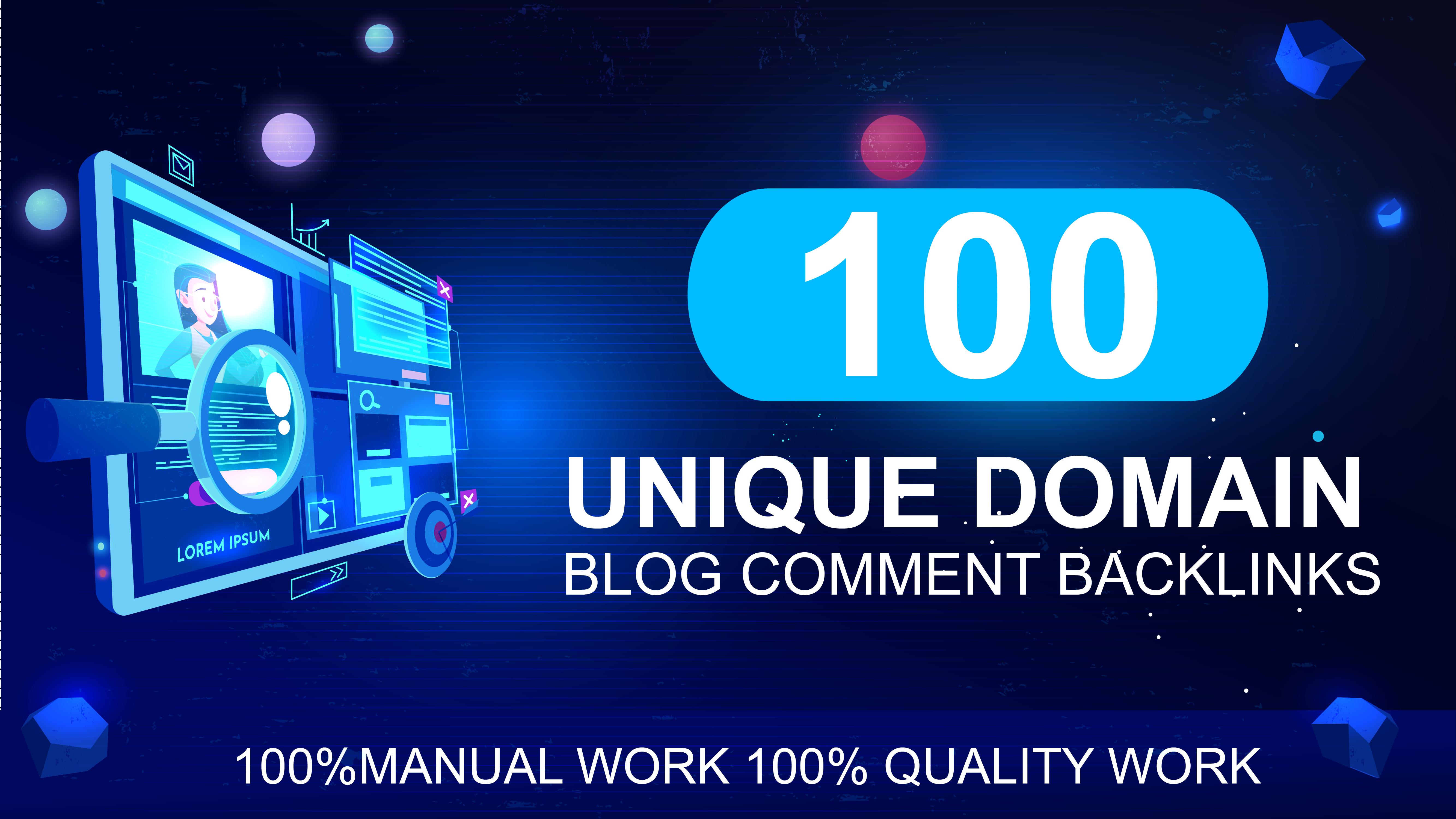 I will create 100 unique domain Backlinks