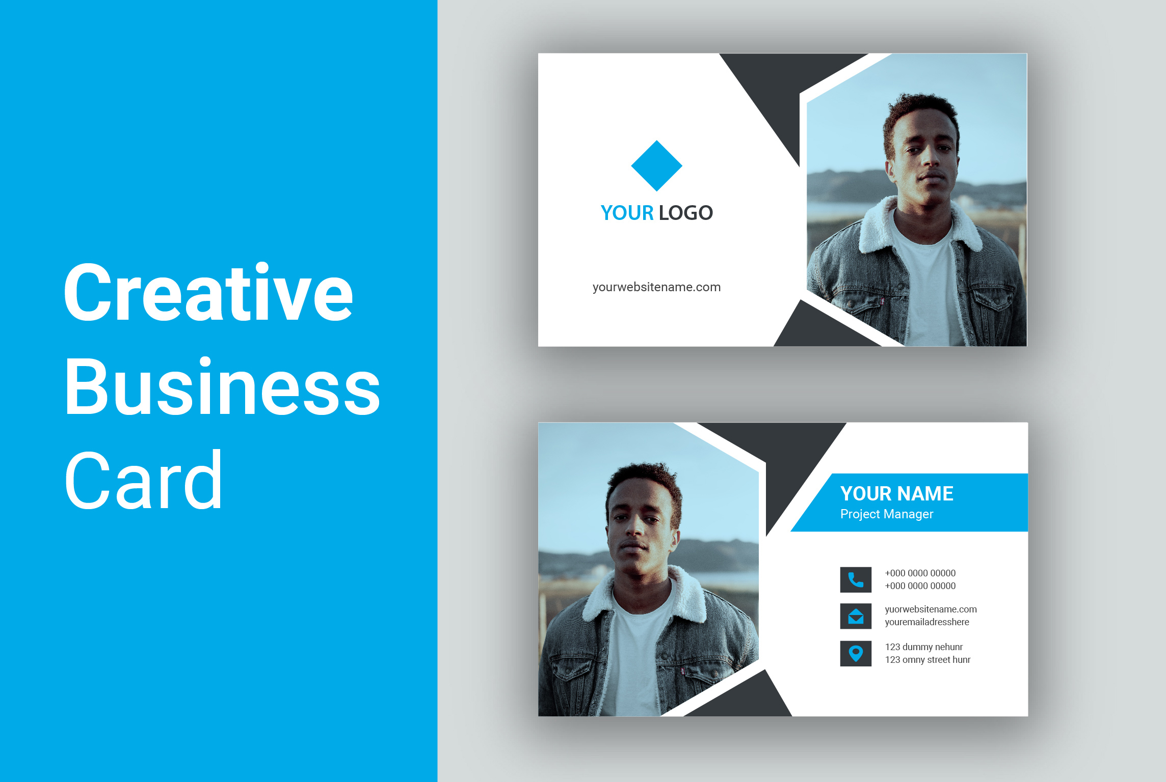 design professional and minimalist business cards