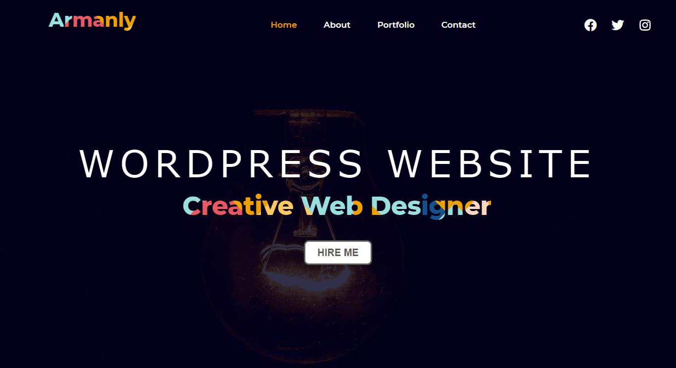 I will do wordpress website design,  landing page or blog website