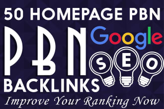 I will do 50 to 65 plus high quality dofollow pbn backlinks homepage