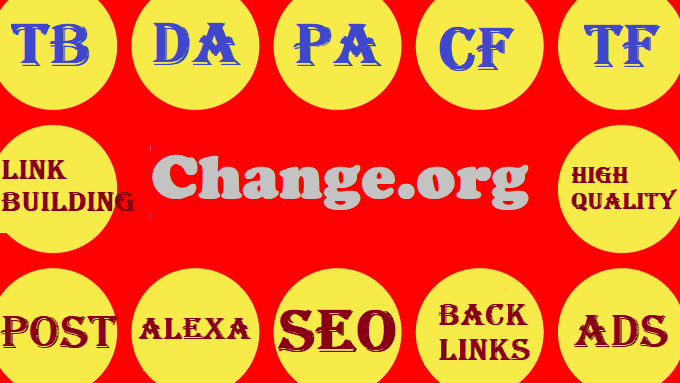 Written guest post on Change. org with a DA94 backlink to your website