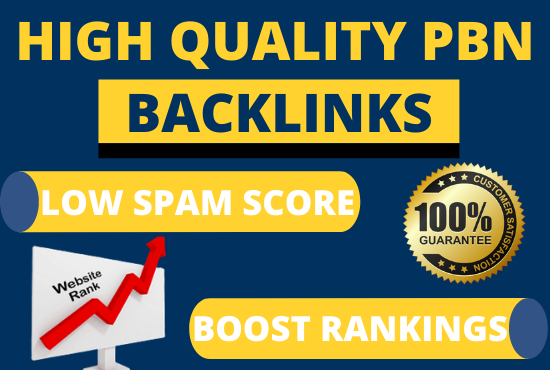 Get 40 PBN Backlinks posts from high da pa tf cf to increase SERP Position