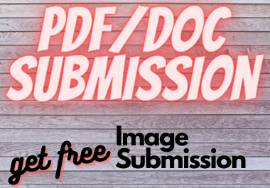 will do pdf and article submission to top 8 pdf sharing sites