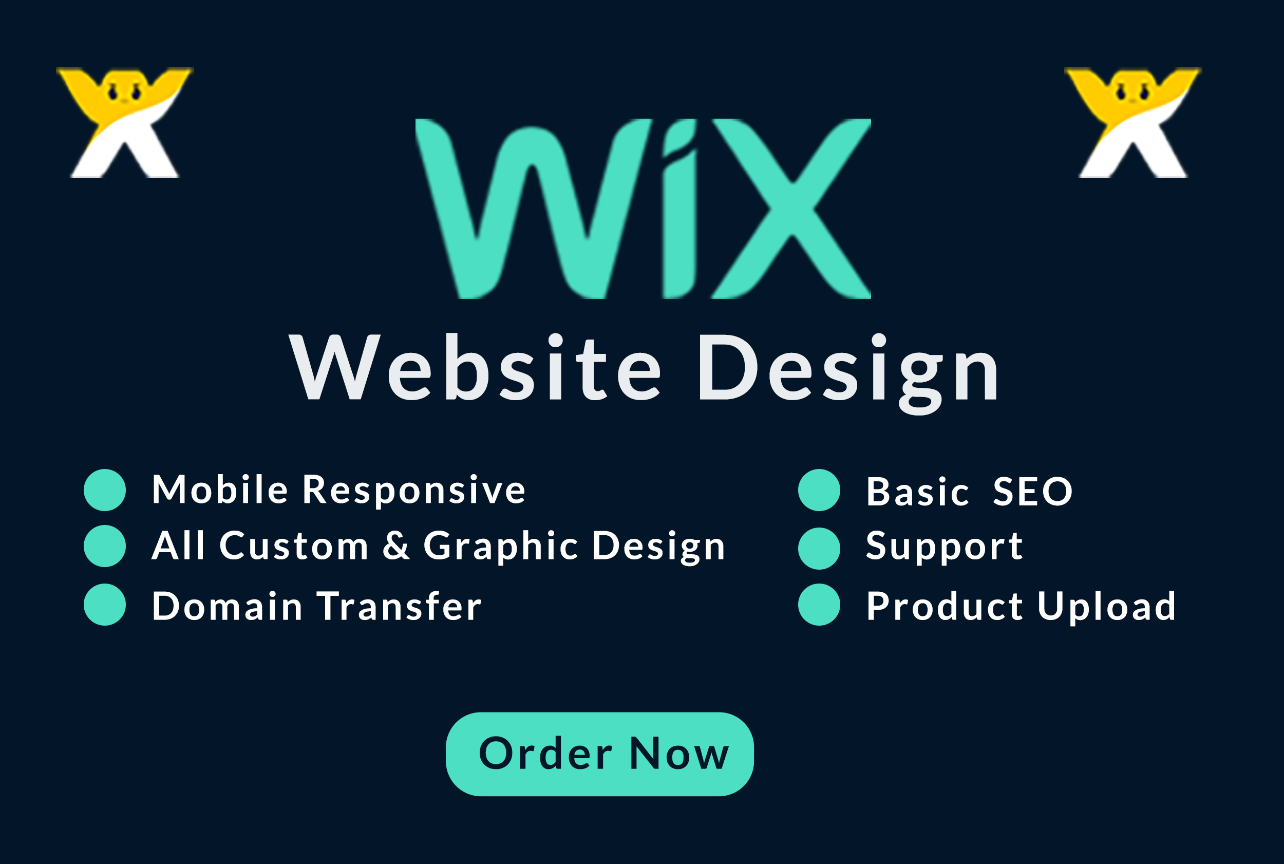 I will design or redesign professional wix website