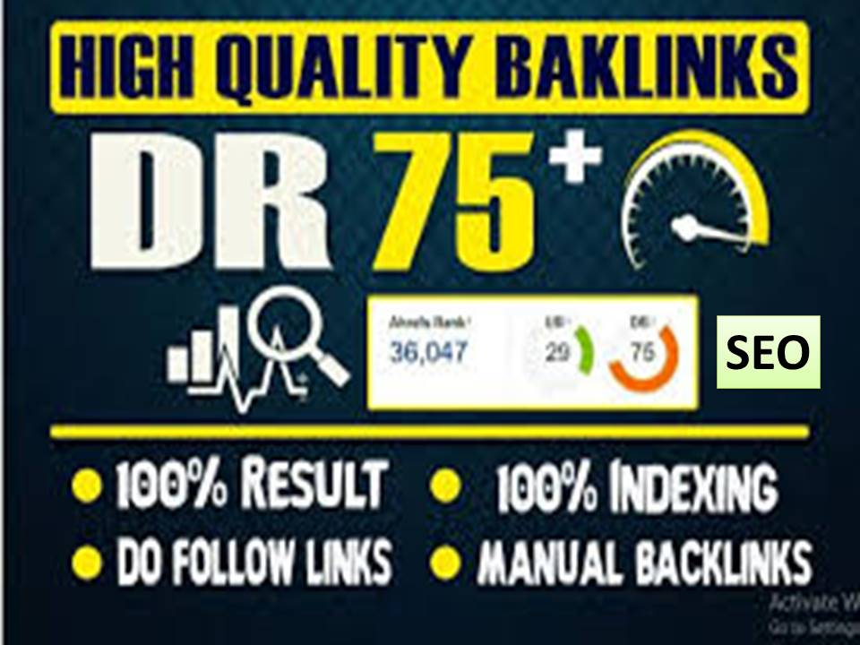 Provide High Quality DR 90 to 99 Permanent Dofollow 60 Backlinks for Seo service