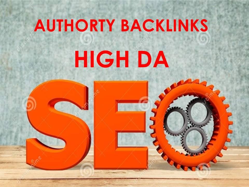 I will Do 10 High Da Authority Dofollow Backlinks