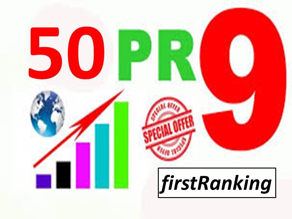 I will Make 50 pr9 high authority safe SEO link building backlinks