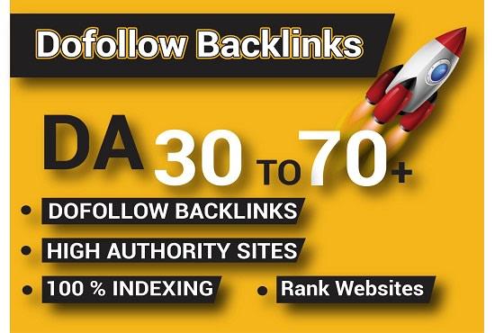 I will da70 high authority 20dofollow SEO backlinks link building
