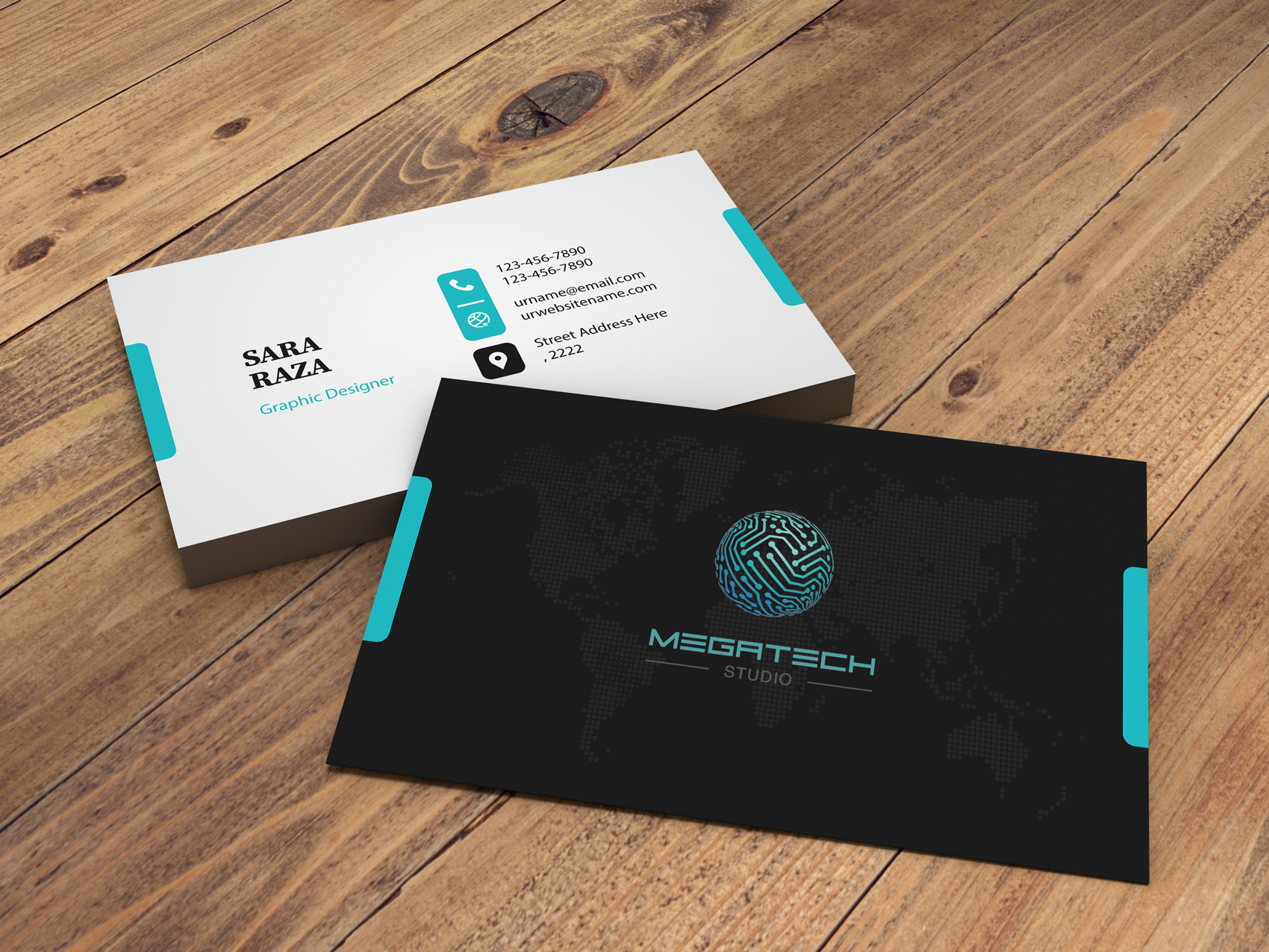 Create design minimal and elegant business cards in 12 hours