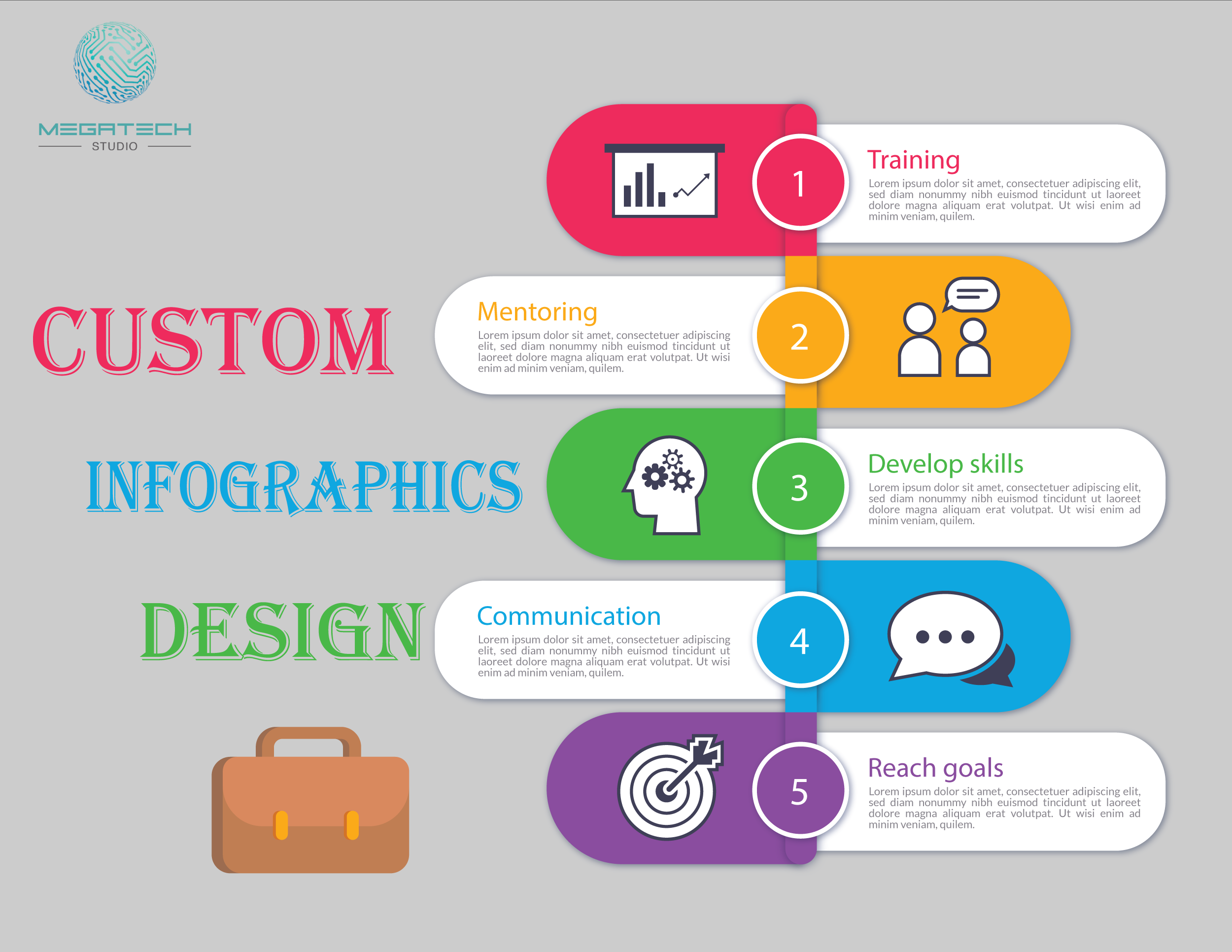 create professional unique info graphic design in 12 hours
