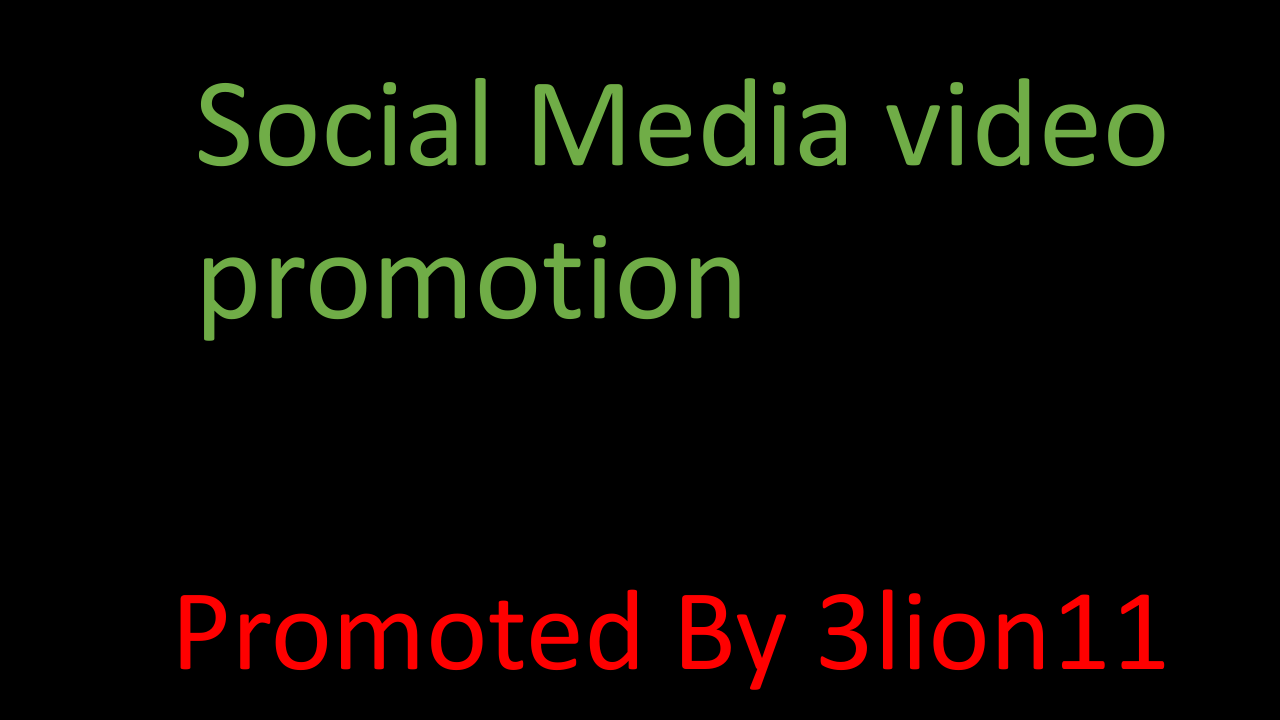 Super fast Social media promotion service by 3lion11