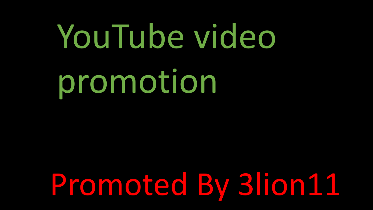 Super fast YouTube account & video promotion service by 3lion11