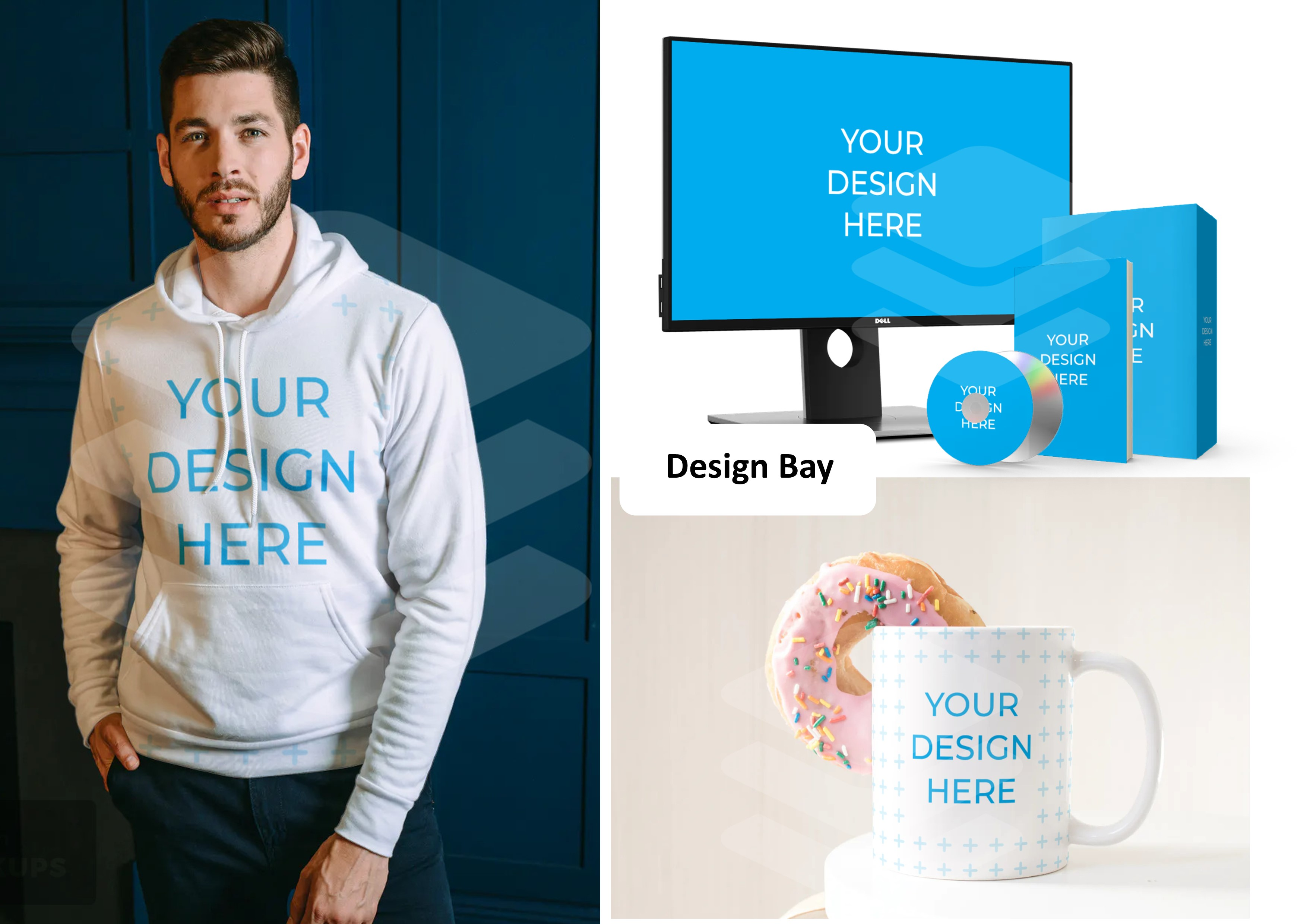 I will design upto 3 digital product mockups within 24 hours