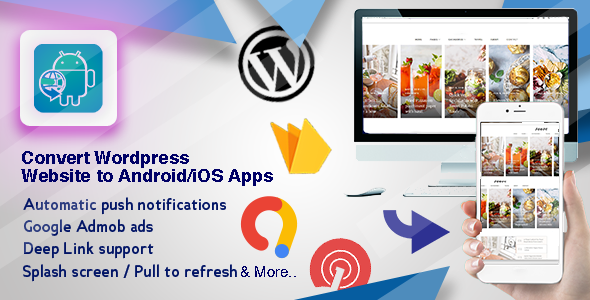 Get an Android and iOS App for your Wordpress Website.