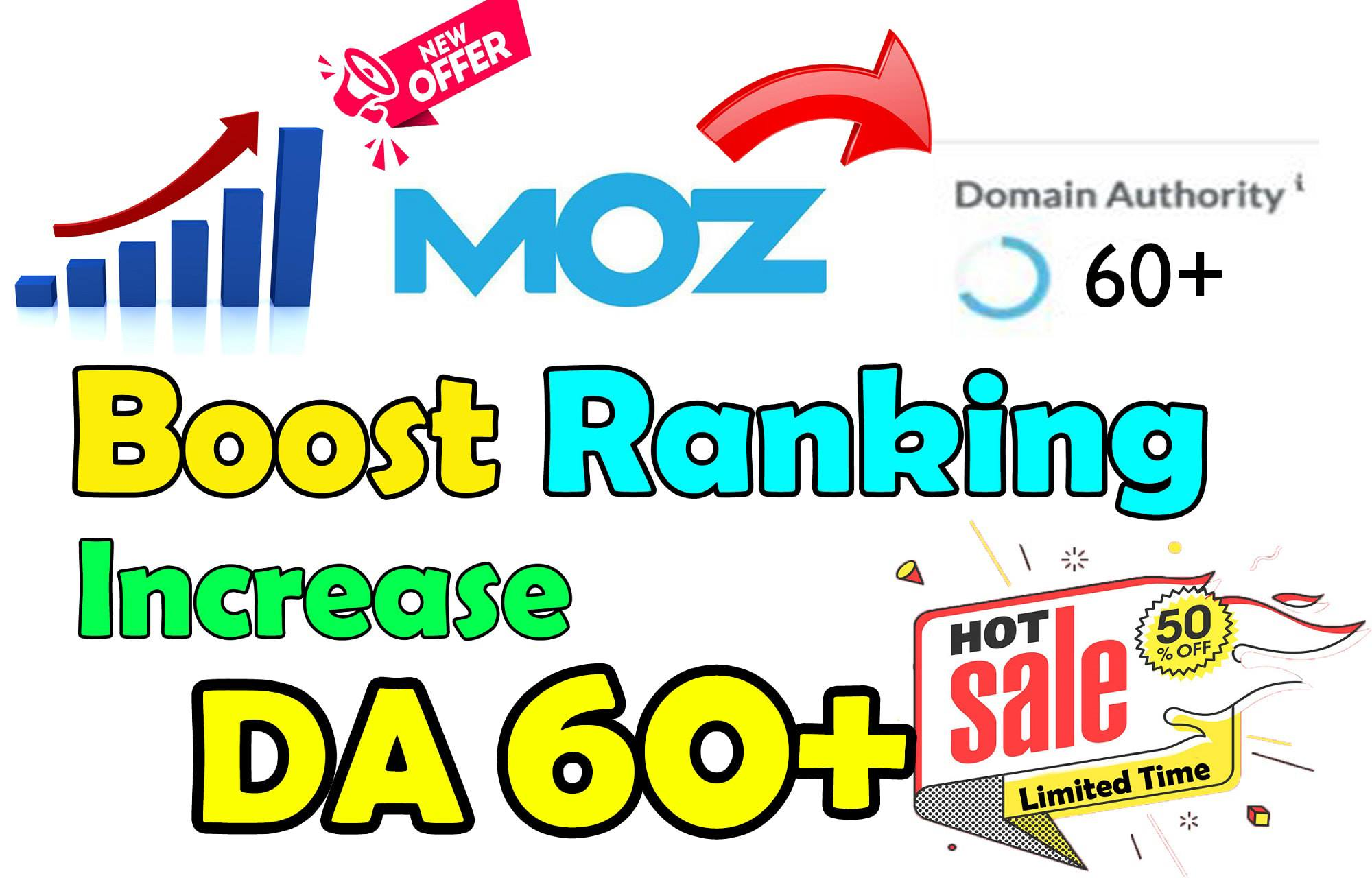I will increase domain authority of your site da 60 plus in 20 days