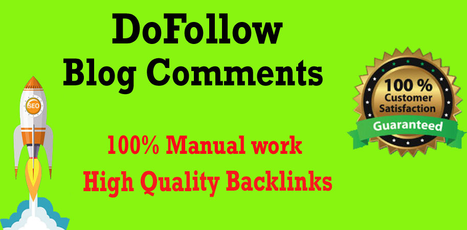 I will create 50 Dofollow blog comments backlink with high DA