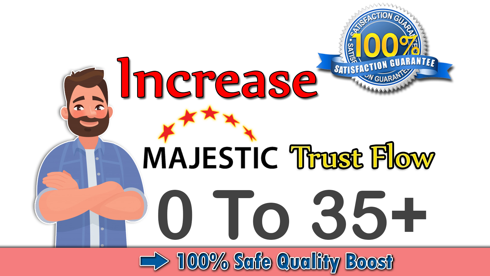 I will increase your website majestic trust flow tf 35 plus