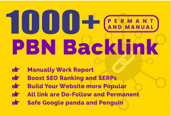 Create 1000+ pbn backlinks with high DA/PA/TF/CF on your homepage with unique website