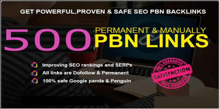 Get extream 500+ pbn backlink in your website homepage with high DA/PA/TF/CF with unigue website