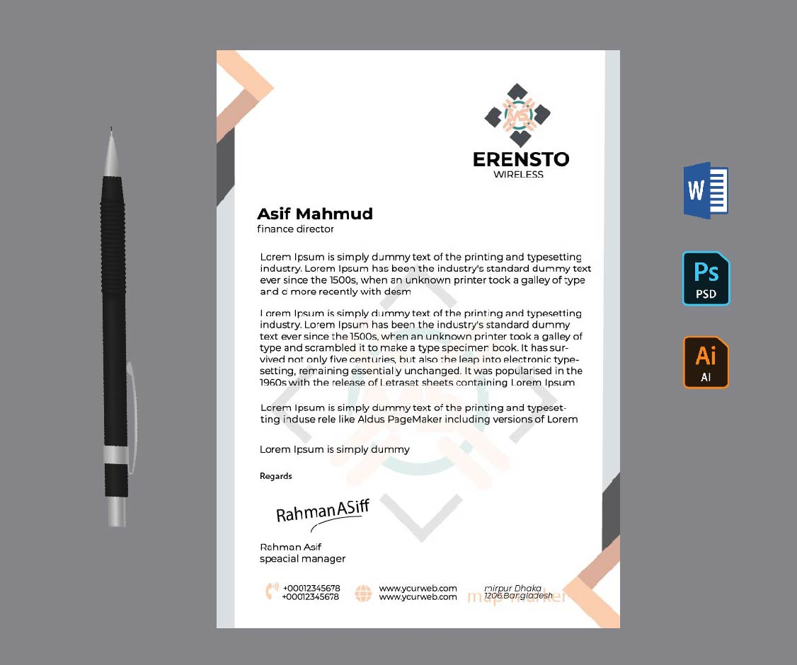 Welcome To The Professional Logo,  Business Card & Letterhead Design service