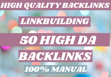 I will 50 dofollow backlinks white hat SEO link building