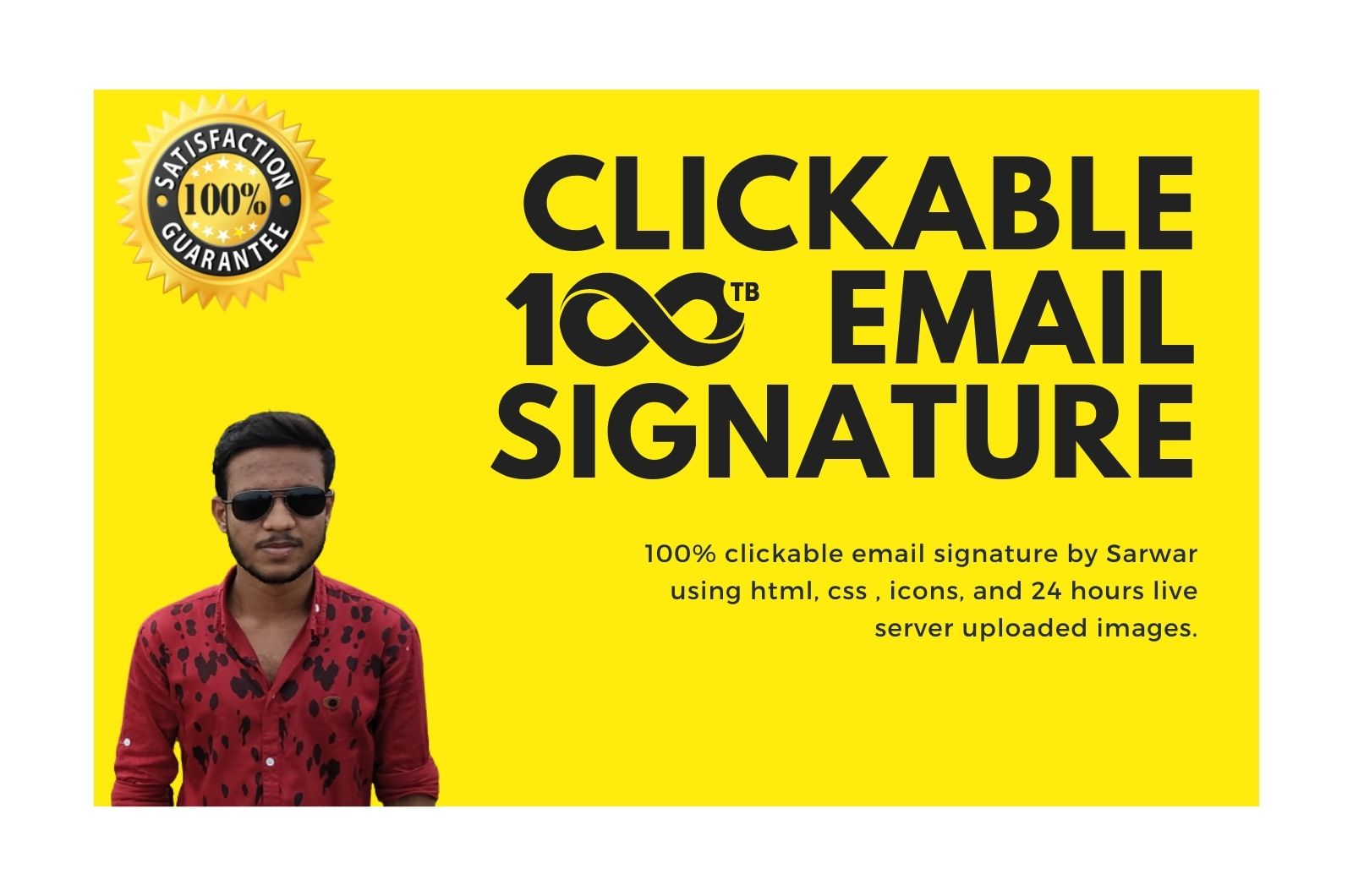 I will make a responsive email signature within 6 hours