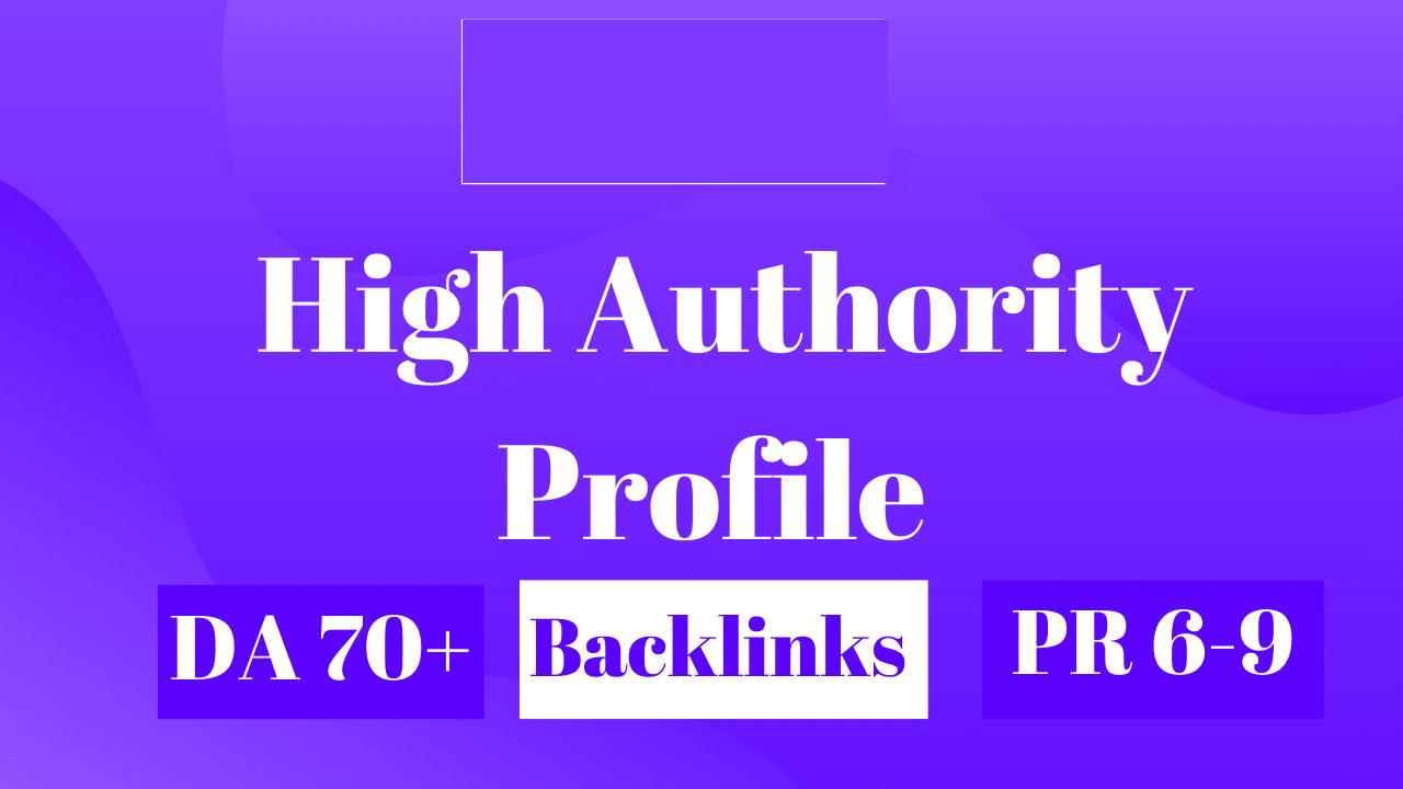 do manually 750 high authority profile backlinks SEO