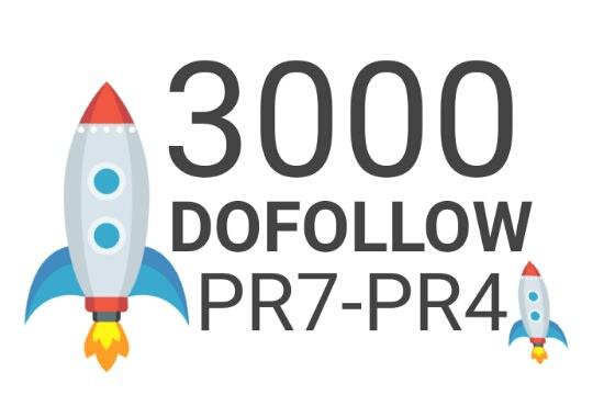Provide 3000 high authority dofollow backlinks