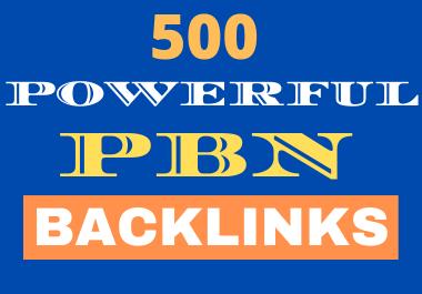 500 powerful SEO permanent PBNs backlinks high DA 25+ homepage
