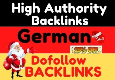do 15 HQ german SEO authority dofollow backlinks