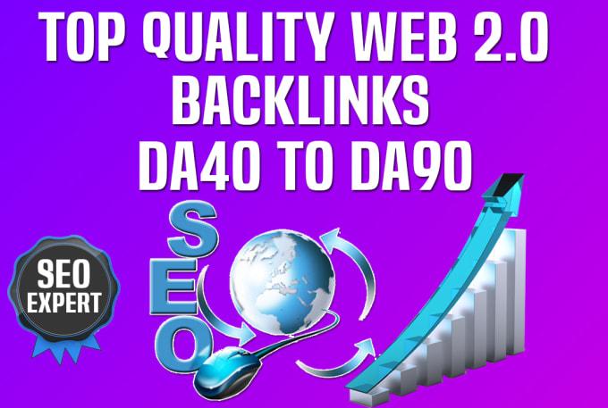 I will do 40 high da web 2.0 contextual dofollow backlinks