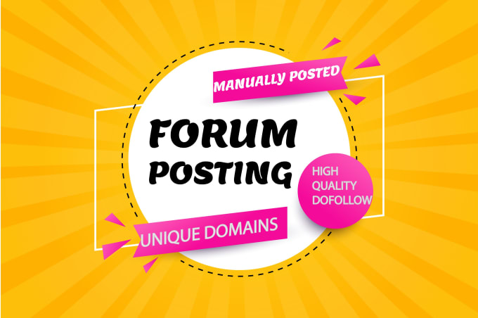 I will do 25 manual unique forum posting Quality SEO backlinks