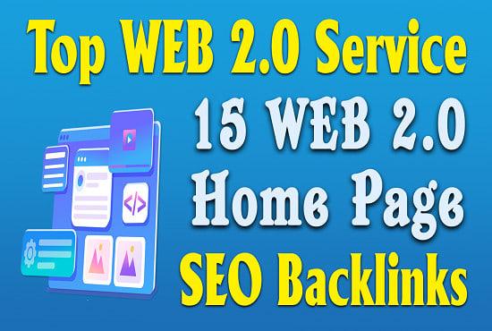 I will do 15 high da web 2.0 contextual dofollow backlinks