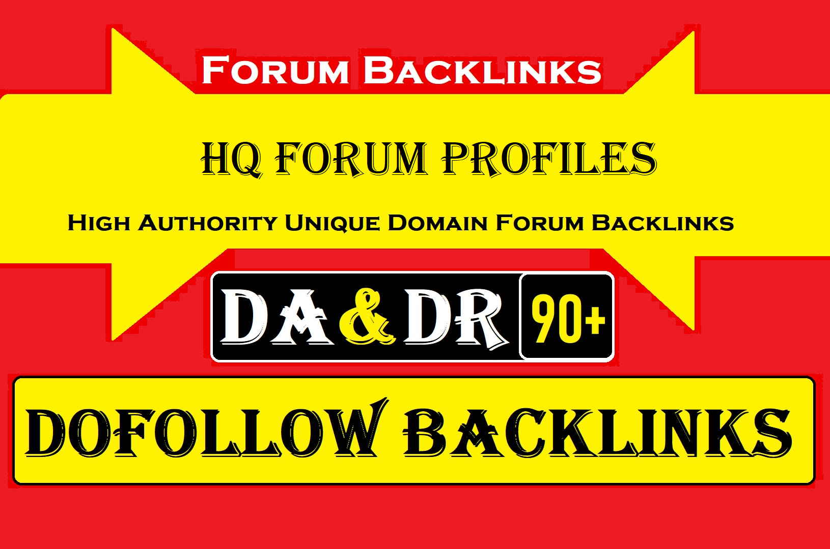 I will do 20 high authority dofollow forum and profile backlinks with google ranking
