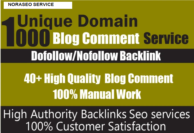 I will do 1000 high quality unique domain dofollow blog comment backlinks