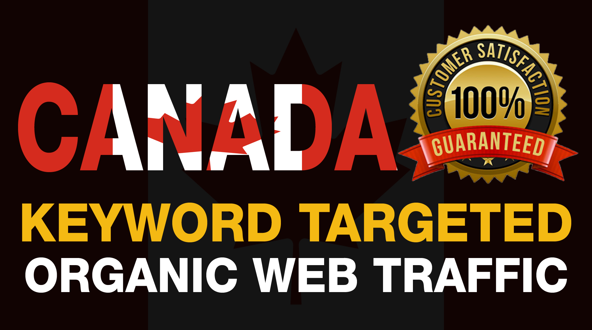 we will drive keyword targeted and real organic CANADA web traffic